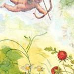 Engel und Erdbeeren
